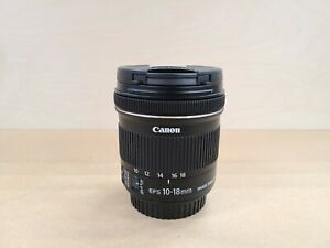 Canon EF-S 10-18mm F/4.5-5.6 IS STM Lens Excellent Condition - Barely Used