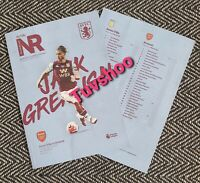 Aston Villa v Arsenal 2020 RESTART Programme 21/7/20! READY TO DISPATCH!!!
