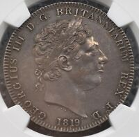 1819 LIX Crown Milled NGC MS61 Great Britain S-3787, KM-675 George III