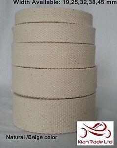 Leinen dickes Baumwoll Gurtband DIY Riemen Stoffband Tasche Herstellung