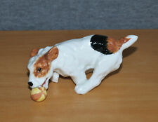 More details for lovely royal doulton terrier dog figure chasing ball - hn 1097 - perfect