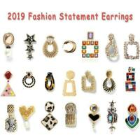 New Fashion Women Acrylic Geometric Dangle Drop Statement Earrings Jewelry Gift