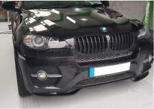 P Front Bumper Valance Chin Spoiler Lip For BMW E71 E72 Performance Splitter