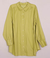 The Bedford Avenue Lime button front long sleeved blouse size 26/28