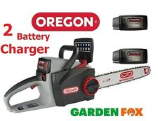 (2 Batteries &Oil) OREGON CS300 2.4ah 36V Cordless Chainsaw 573021 5400182213963
