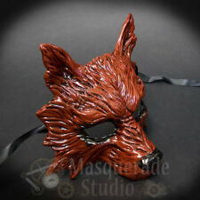 Wolf Animal Spirit Halloween Costume Wall Decoration Masquerade Mask [Red]