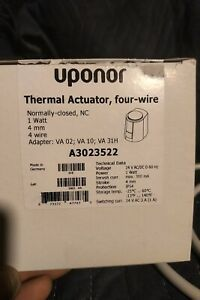 UPONOR A3023522/B & G THERMAL ACTUATOR FOUR-WIRE Please read entire description