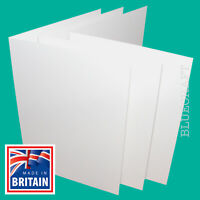 White Card Blanks without Envelopes. Creased and ready to fold to A6. 100 Pack