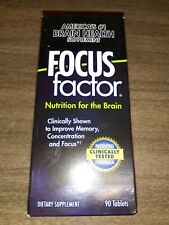 FOCUS FACTOR Brain and Focus SUPPLEMENT 90 TABLETS, Exp-11/2020