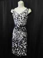 Max Mara Dress Slinky Knit Jersey  Black & White Sleeveless Size 38 IT 6 US