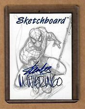 STAN LEE WIERINGO Autographed Sketchboard Very Rare Redemption Card 98 MCC  Auto