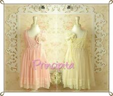 GIRLS Boutique Vintage Special Occasion Chiffon & Lace Pink or Ivory Dress