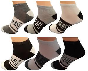 6 Paar Everlast Sneaker Socken Füßlinge  in 4 Farben Größe 40-44 quarter
