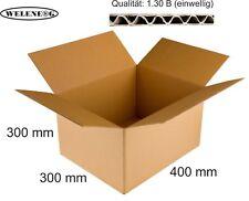 20 Faltkartons 400x300x300mm B-410g/m2  Versandkarton Falt Kartons [ BRAUN ]