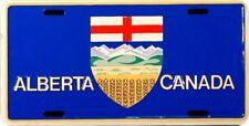 Alberta Canada Flag Embossed Metal License Plate