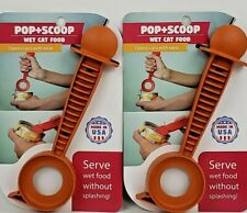 Pop + Scoop Cat Food Can Opener and Server Spoon Made in Usa Lot of 2 New