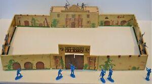 Marx Painted Tin Litho Alamo Fort Chapel Crockett Texans