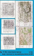 Peddinghaus 1/16 Real Battle Maps of Bastogne Area WWII (5 maps) [Diorama] 1886