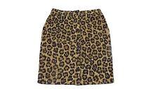 new RALPH LAUREN womens LEOPARD print Skirt Size 4 Linen & Cotton