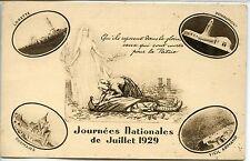 CP Militaria - Guerre 14-18 - Journées Nationales de Juillet 1929