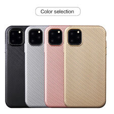 For iPhone X XR XS Max 8 7 6 Slim Soft TPU Carbon Fibre Silicone Soft Case Cover