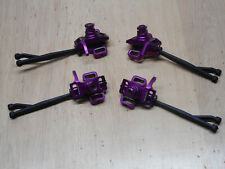Hpi Savage X 4.6 Purple Alloy Hub Set with Axle & 17mm Hex Nut Conversion