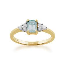 Aquamarine Not Enhanced Yellow Gold Fine Jewellery