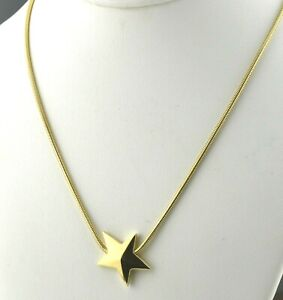 Tiffany & Co Designer 18K Yellow Gold 1984 Star Necklace