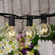 Outdoor String Lights G40 Globe Bulbs Patio Yard Garden Waterproof Lighting 25FT