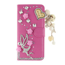 Case Wallet Cover For LG Flip Phone Cases Luxury Diamond Leather Shell Skins