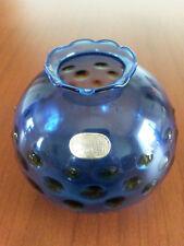 Rauchglasvase blau ungebraucht neuwertig Dekorationsstück