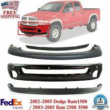 Front Bumper Primed Steel Kit For 2002 2005 Dodge Ram 1500 2003 2005 2500 3500 Fits 2005 Dodge Ram 1500