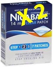 Nicabate 14Mg Clear Patches 2 boxes of 7 patches each (14 in total)