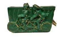 Vintage 1950's TV Lamp Planter Green Tandem Bicycle Lovers Lane (c232)