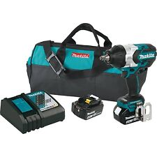 """Makita 18V Cordless 0.5"""" Impact Wrench Kit with Batteries and Charger   XWT08M"""