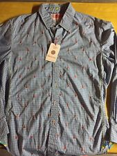 Robert Graham-Cricket Size L New Shirt With Guitars On It