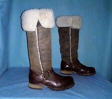 bottes IKKS en cuir et mouton marron p 36 fr TBE