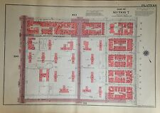 1955 UPPER WEST SIDE 100TH-105TH MANHATTAN NYC G.W. BROMLEY PLAT ATLAS MAP 12X17