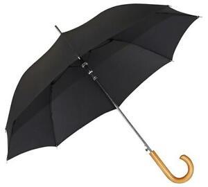 Doppler Stockholm Wood Handle Umbrella Black