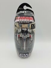 STAR WARS TITANIUM SERIES GENERAL GRIEVOUS STARFIGHTER SHIP W/ STAND DIE CAST