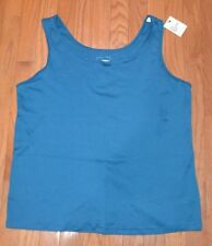 Sonoma The Everyday Tank Top Plus Size Sleeveless Top Teal