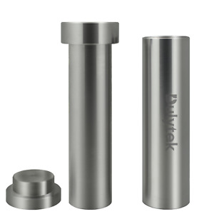 Dulytek Hammer Style Pre-Press Mold, Cylinder Stainless Steel, Large, Dia 22mm