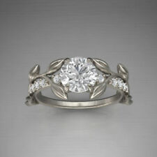 14Kt White Gold Certified 3.81Ct White Round Cut Diamond Engagement Wedding Ring
