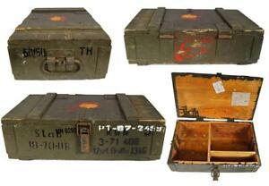 Army Holzkiste Transportbox Werkzeugkiste Holzkoffer Munitionskiste Vintagebox