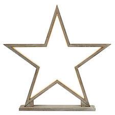 53cm Wooden Large Star Shape Festive Christmas Decor LED Light Table Lamp