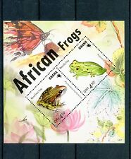 Ghana 2014 MNH African Frogs 2v S/S Amphibians Fauna Nosed Grass Frog Waterlily