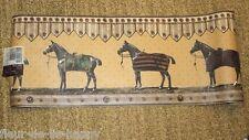 New Raymond Waites Equestrian Show HORSE  Blanket Wallpaper Border Prepasted 15'