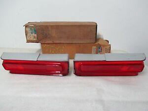 """Mopar NOS 1969 Plymouth Fury I & II RH & LH Taillight Lenses """"Set"""" 2932710-11"""