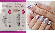 2 Sets INCOCO Nail Polish Applique Apps Strips MASTERPIECE Multi Color Swirl NEW