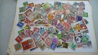 2128           lot 100 timbres seconds plusieurs pays